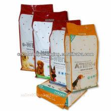 Bolso del paquete del alimento para animales / bolsita de alimento del perro del guset / bolso de empaquetado con la parte inferior plana