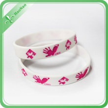 100% Eco-Friendly Bright Good Quality Silicone Wristband