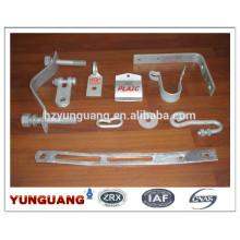 Soporte de ángulo resistente Soporte de galvanizado en caliente piezas de acero Soporte de hardware de voltaje bajo Accesorio de acero Ganchos de presión