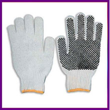 Cheap PVC dotted cotton working glove ZMR227