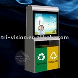 Trashcan scrolling light box billboard