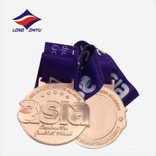 Médaille de métal en gros plaqué en bronze exquis