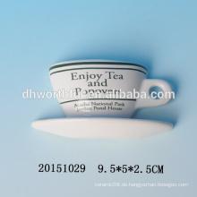 Großhandel dekorative Kühlschrankmagnete mit Tasse und Untertasse Form