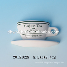 Wholesale decorative fridge magnets with cup and saucer shape