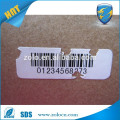 Competitive Price good Destructible Asset Label Printing Sticker, Custom Serial Number Barcode Sticker Fragile Warranty Label