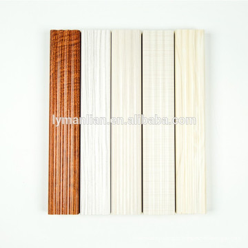 Moldura de porta de madeira Molduras de madeira de melamina colunas de madeira decorativas
