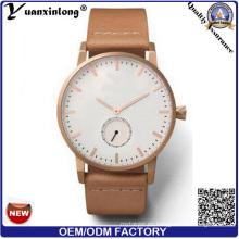 Yxl-286 venta caliente OEM fábrica Japón Movt reloj al por mayor 2 mano medio malla correa de acero reloj hombres reloj de moda de lujo de los hombres
