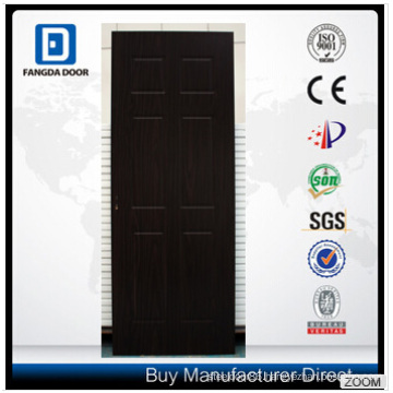 Durable and Affordable Fangda 6 Panel Design PVC MDF Wood Door