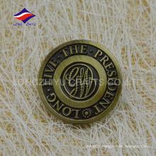 Musée de la révolution américaine personnalisé Metal antique badge d'or
