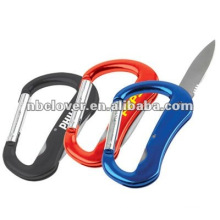 Cute multi-function carabiner knife keychain