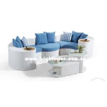 Serie musical PE Rattan mimbre sofá de muebles de jardín al aire libre Bp-873D