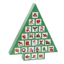 Tree Shape Paperboard Advent Calendar Box