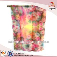 Digital Print Custom Silk Pashmina