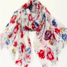 wholesale hijabs flower print scarf for women custom design scarf