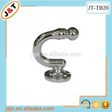 small chrome metal curtain rod tie back