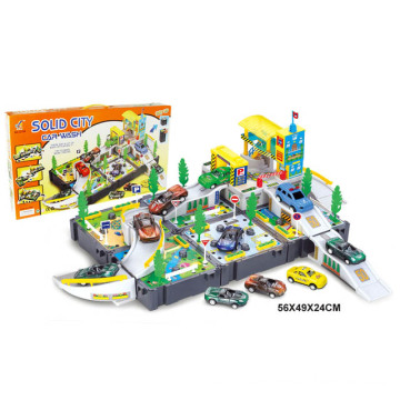 Kids DIY Toys Gas Station for Boy (H1436011)