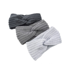 Bandeau fascia per capelli warm Wollen knitted Braid cross headband sports headband ear protection headgear handmade Autumn Winter Thick hair accessories