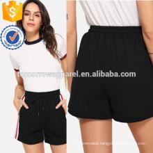 Striped Tape Side Drawstring Waist Shorts Manufacture Wholesale Fashion Women Apparel (TA3005B)