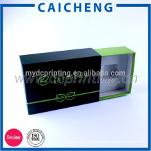 Customized hard cardboard drawer style cosmetic gift set packaging box