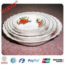 10inches salad bowl ceramic round shallow bowl