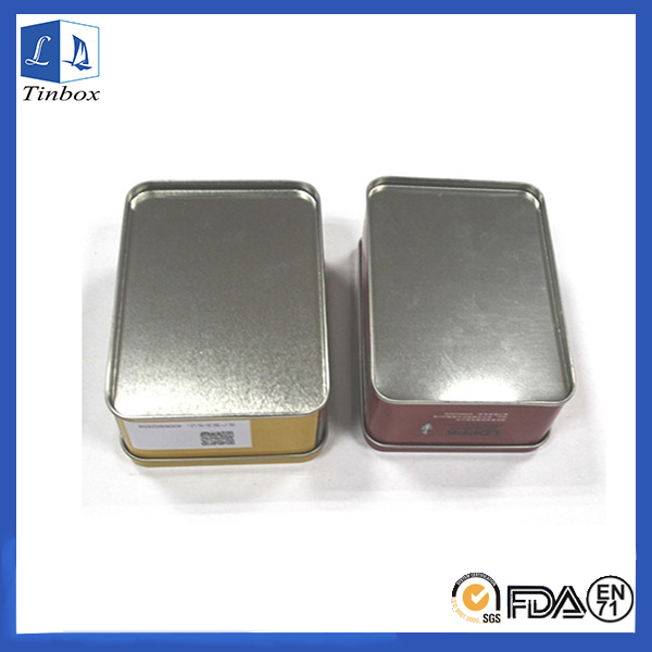 Small Rectangular Metal Tool Tin Box