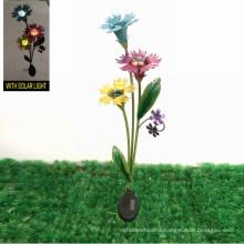 Solar Powered Garden Decoration Metal Blossom Stake Craft