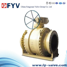 API 6D Large Cast Steel Trunnion Mounted Ball Valve