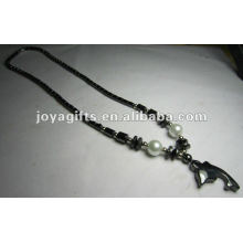 Magnetic Hematite Dolphin beaded Necklace