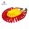 Flex abrasion resistant yellow coiled air hose