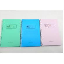Cuaderno espiral de la cubierta del PVC