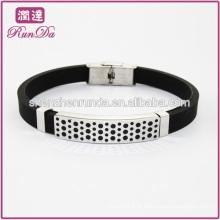 Moda pulseira de silicone pulseira de tempo de aço pulseira de aço inoxidável