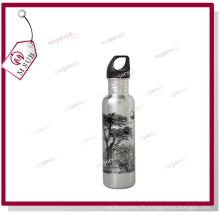 Bouteille d'eau 600ml blanc/Silver pour la Sublimation par Mejorsub