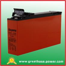 Batterie acide à base de plomb à accès frontal de haute qualité pour système d'alimentation 1608 12V