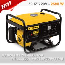Gerador de gasolina de 2,5 kw com fio de cobre 100% com CE e GS