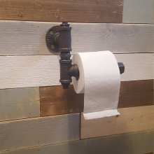 Iron Pipe Toilet Paper Roll Holder