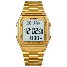 Skmei 1763 qibla watch prayer watches men wrist azan montre muslim digital men watches wristwatch