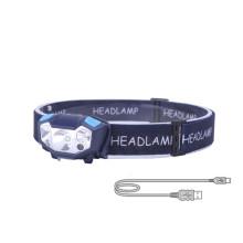 Waterproof LED Headlamp Gesture Sensing Headlight