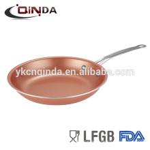 Sartén de cobre de aluminio para cocina de inducción