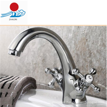 Double Handle Bathroom Basin Faucet (ZR30300)