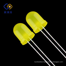 10mm yellow diffused oval dip led