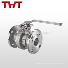 DN 65 manual 2 pcs CF8M flange floating ball valve