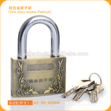 Factory Direct Sale Zinc Alloy Padlock With Atomic Key