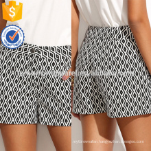 Geo Pattern Pocket Shorts Manufacture Wholesale Fashion Women Apparel (TA3015B)