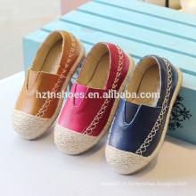 Chaussures pour enfants doux glisser sur chaussures décontractées Chaussures en espadrille en jute unique