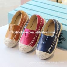 Soft kids shoes slip on casual shoes jute sole espadrille shoes