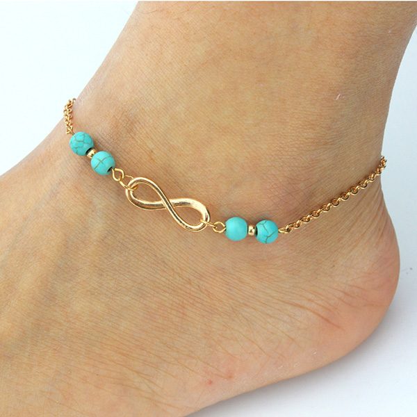 Infinite Charms Chain Cheap Ankle Bracelets