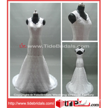 Princess Mermaid Removable Skirt Flowers Lace Wedding Gown Bridal Dress (AS1342)