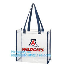 clear vinyl pvc zipper bags with handles, waterproof shopping clear pvc cosmetic handles plastic bag with snap button