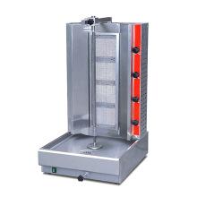 Vertical máquina de Shawarma gás ajustável de frangos de corte