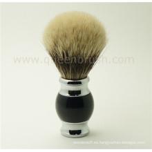 Cepillo de afeitar con pincel de barba de tejón caliente